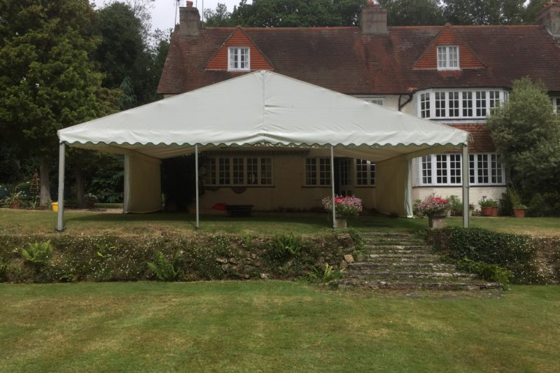 9m Awning raised terrace